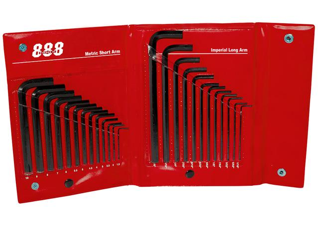 888 By SP Tools Key Set 25Pc Metric/SAE Wallet Sparesbox - Image 1