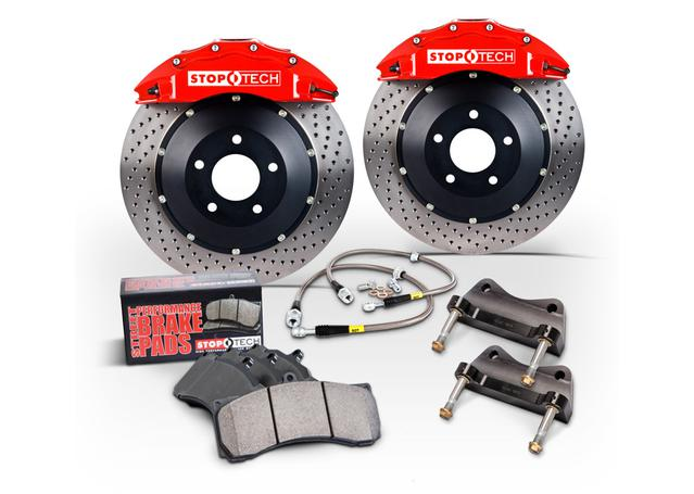 StopTech Big Brake Kit - Fits WRX / Impreza 2.5RS/2.5i Front 355x32mm Red Calipers 02-09 270645