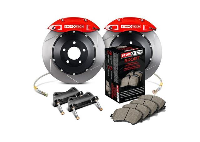 StopTech Big Brake Kit - Fits VW GTI Front w/ Red ST-41 Caliper Slotted 328x25 1pc 2015 Sparesbox - Image 1