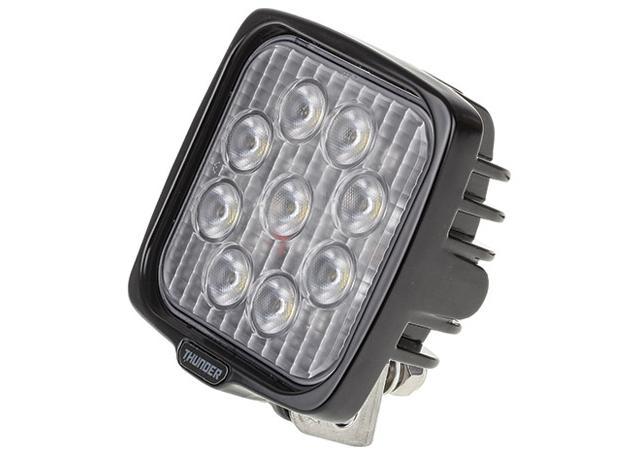 Thunder Work Light Sqaure 12/24V 9 LED 110mm Sparesbox - Image 1