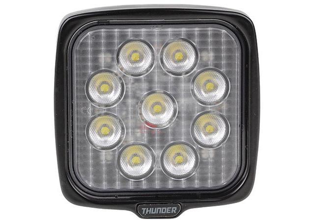 Thunder Work Light Sqaure 12/24V 9 LED 110mm Sparesbox - Image 2