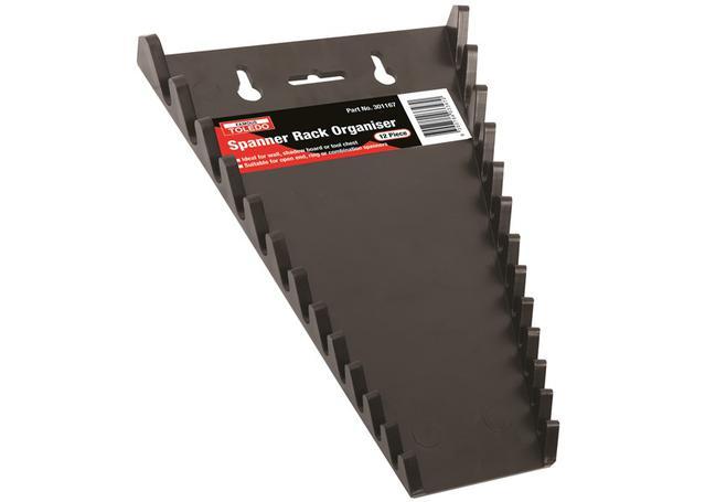 Toledo Spanner Rack Organiser 12 Piece 301167 Sparesbox - Image 1