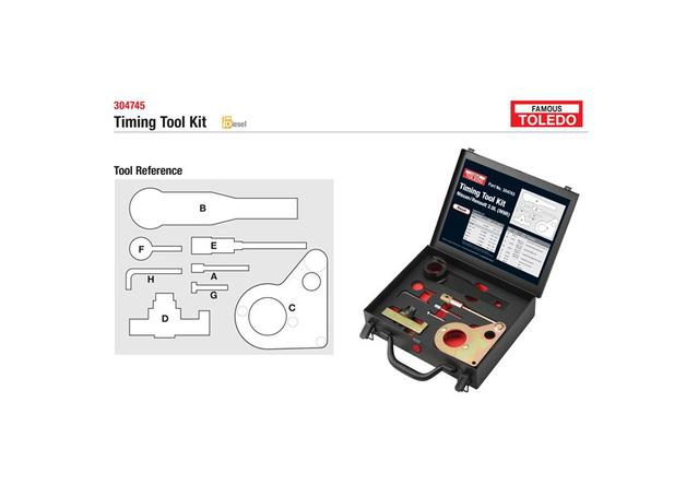 Toledo Timing Tool Kit 304745 Sparesbox - Image 1