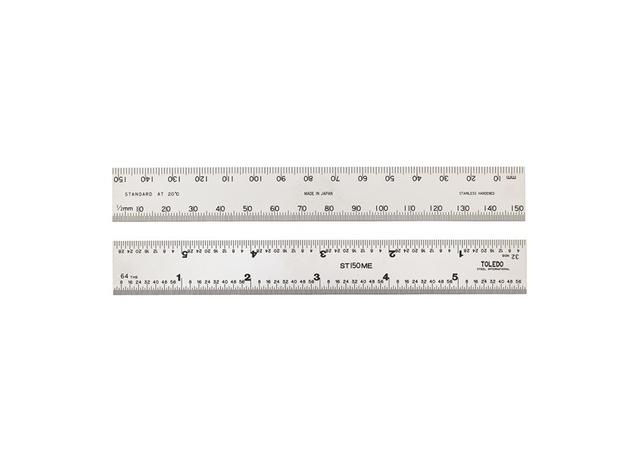 Stainless Steel Ruler 6 inches 150 mm