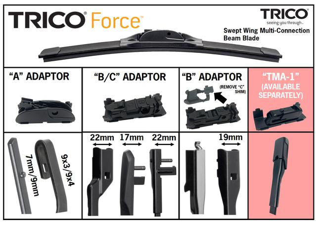 Trico Force Beam Wiper Blade 650mm TF650 Sparesbox - Image 4