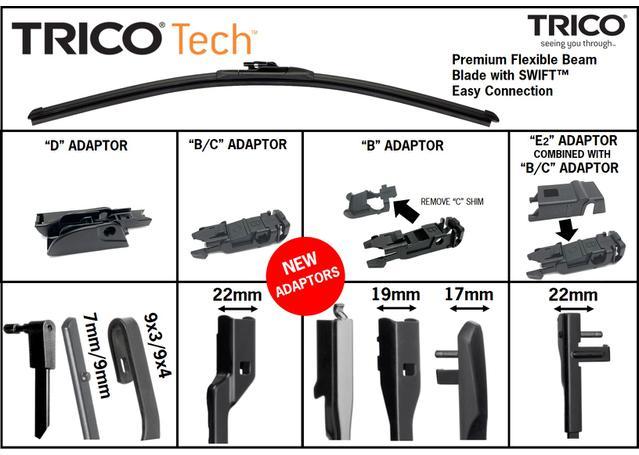 Trico Tech Beam Wiper Blade TEC380 Sparesbox - Image 4