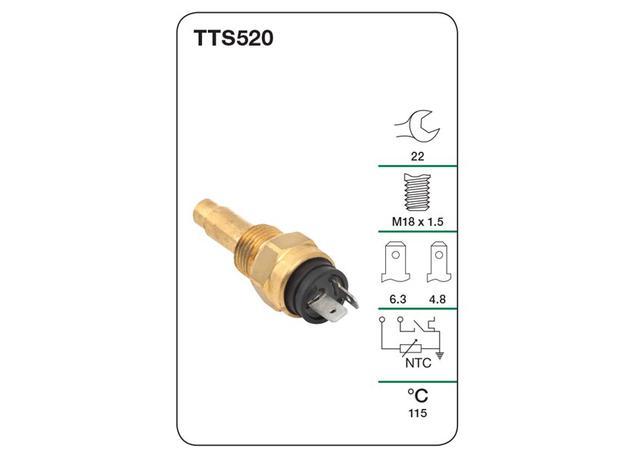 tridon water temp switch  warning light  u0026 gauge  tts520