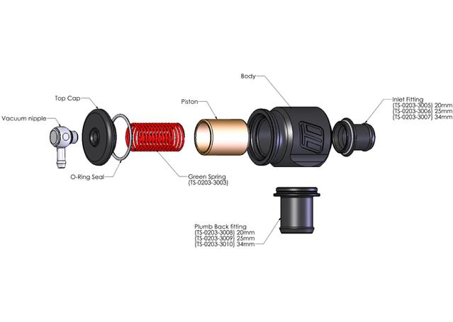 Turbosmart BOV Kompact Plumb Back 25mm Sparesbox - Image 2