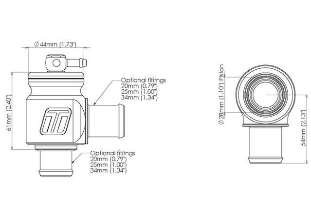 Turbosmart BOV Kompact Plumb Back 25mm Sparesbox - Image 3